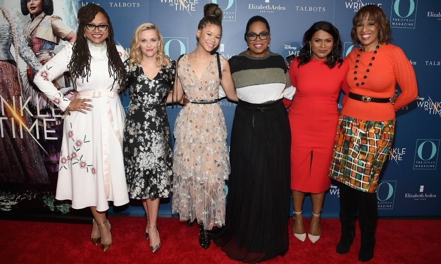 Power group! Ava DuVernay, Reese Witherspoon, Storm Reid, Oprah Winfrey, Mindy Kaling and Gayle King stepped out for as O, The Oprah Magazine's special NYC screening of <i>A Wrinkle In Time</i> at Walter Reade Theater on March 7 in New York City. 