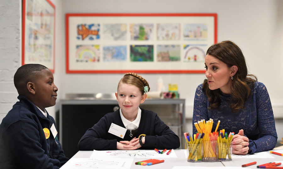"The Duchess of Cambridge visited the new headquarters of children's mental health charity Place2Be where she officially opened their Center of Excellence. During the outing on March 7, Kate spoke with pupils from nearby Albion Primary School who were taking part in an exercise on ""friendship"" which is part of the latest training for school-based counselling.