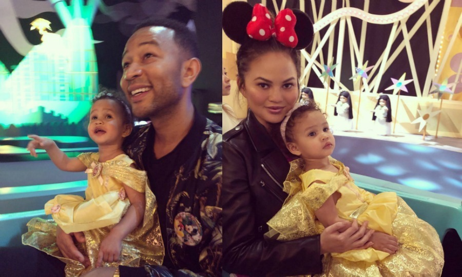 "<p>The belle of the ball! Chrissy Teigen and John Legend took their 22-month-old daughter Luna across the world to Disneyland Hong Kong. The proud parents showed off their special trip on Instagram, with John sharing a photo of him and Luna on the It's a Small World ride, writing: ""It's a small world after all!"" Chrissy posted her own mommy-daughter pic, writing: ""my belle."" The 32-year-old, who is pregnant with the couple's second baby, also shared a video of her little girl enthusiastically giving Minnie Mouse a hug. Chrissy joked that Luna only ""let's me hug her once a week.""</p>