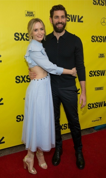 John Krasinski and Emily Blunt stepped out for a very special red carpet. The loved-up pair made an appearance at the 2018 SXSW Film Festival to premiere their upcoming thriller <em>A Quiet Place</em>, which John directed but is also their first non-animated flick together. Emily stunned in Prabal Gurung.