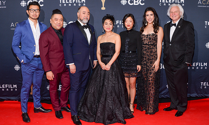 The cast of <em>Kim's Convenience</em>