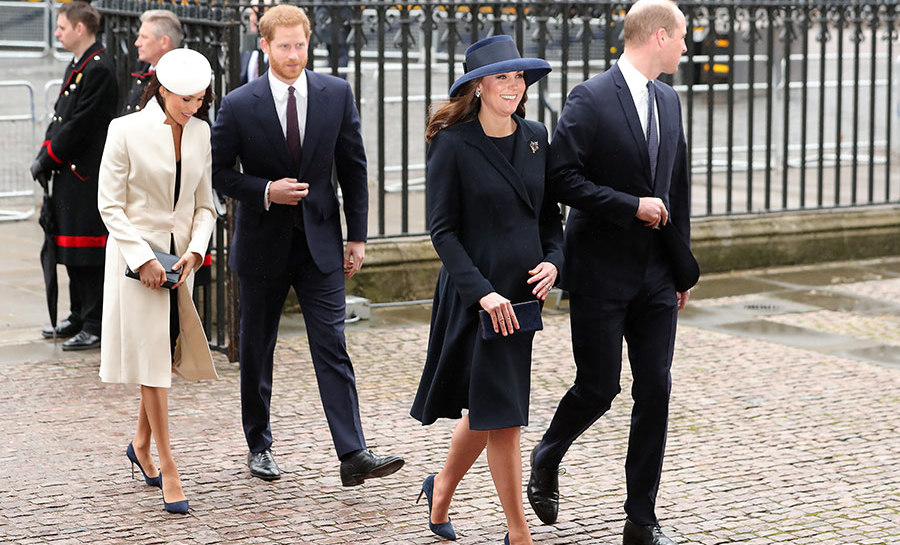 "The ""Fab Four"" are back together again! After first appearing all together back in February, the four arrived at Westminster Abbey in a group to attend the Commonwealth Day service.