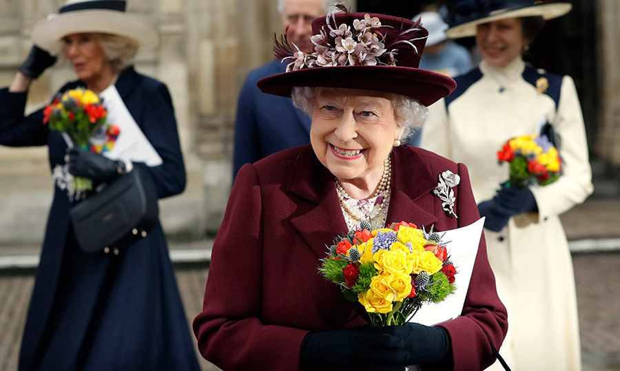 Her Majesty showed off her megawatt smile after leaving Westminster Abbey!