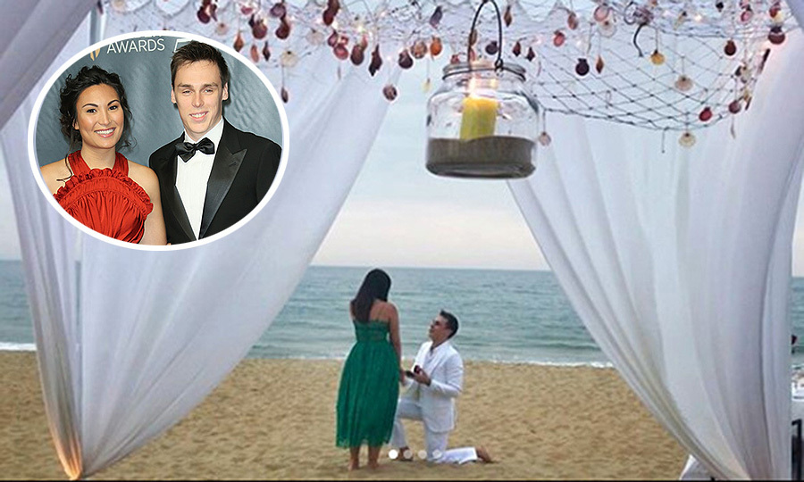 "<p><strong>The engagement:</strong> On February 21, 2018, The Prince's Palace of Monaco released a statement reading: ""S.A.S. Princess Stephanie is pleased to share with you the engagement of her son Louis Ducruet with Miss Marie Chevallier."" But we were able to see the moment itself, which took place on a beach at Vietnam's Four Seasons Resort The Nam Hai, thanks to the bride and groom's social media accounts! Prince Albert's nephew posted the engagement to Instagram, writing, ""Let me introduce you the future madame Ducruet ❤️ she said yes and we are now engaged  #withlove #engagement #proposal #iloveyou @mariehoachevallier.""</p>
