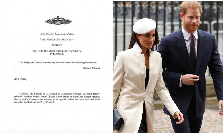<h2>Her Majesty's approval</h2>