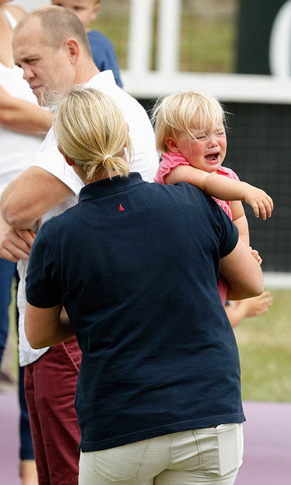 At the Festival of British Eventing in 2015, adorable Mia Tindall made her displeasure known to mom Zara. The youngster seemed to have been upset to be taken away from the grassy patch she'd been playing on. But who can expect even a royal toddler to be happy all the time?
