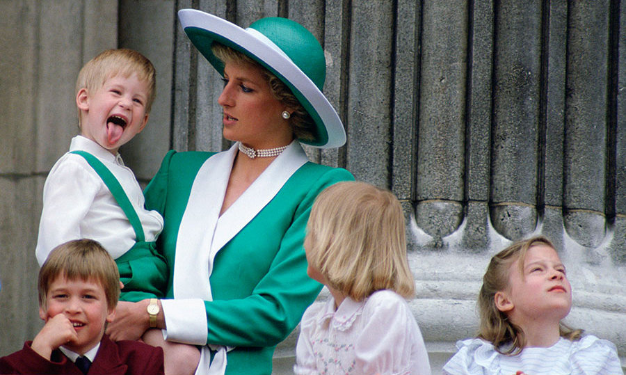 Always a joker, Prince Harry amused his cousins and - though she wasn't keen to show it - his mom Princess Diana while making an official appearance on the balcony at Buckingham Palace. The rebellious prince stuck his tongue out at crowds while his brother William, oblivious to what was going on behind him, smiled.