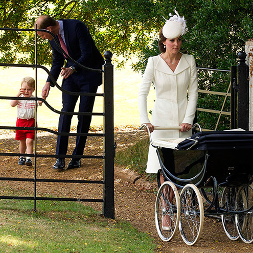 Princess Charlotte was the woman of the hour at her Christening in 2015 but Prince George still managed to steal the show during a naughty moment after the family strolled through the park. He may have been overwhelmed by the crowds, but later perked up when the service was over, standing on his tippy toes to peer into his little sister's pram!