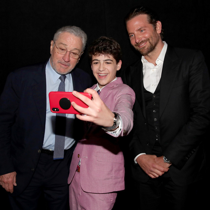 Joshua Rush managed to get Robert De Niro and Bradley Cooper in a selfie during the A Legacy Of Changing Lives party presented by the Fulfillment Fund in L.A.