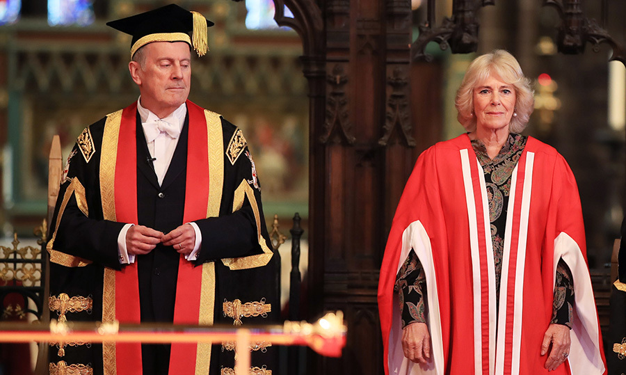 Camilla, Duchess of Cornwall, attended the University of Chester's graduation ceremony on March 16. She received an honorary doctorate in recognition of her commitment to promoting literacy.