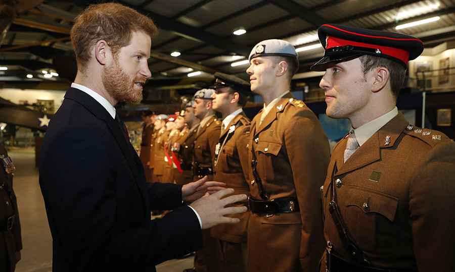 On March 16, Prince Harry attended a ceremony during which pilots were presented with their wings at the Museum of Army Flying in Middle Wallop.