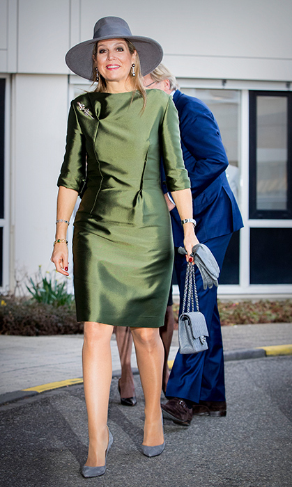 We're green with envy over Queen Maxima's outfit! The royal helped open the Expertise Center for Endometriosis in Balance at HMC Bronovo Hospital on March 15.