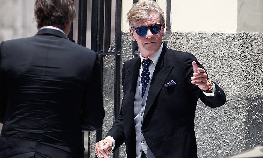 <p>Prince Ernst August of Hanover looked cool as a cucumber in his sweet shades for his son's big day. Though estranged from ex Princess Caroline and having missed his other son's wedding last year, the royal was on hand for the Lima festivities.</p>