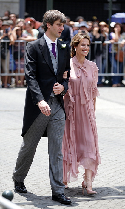 <p>Liz Foy de Osma and Prince Ernst August of Hanover arrived for the big ceremony.</p>