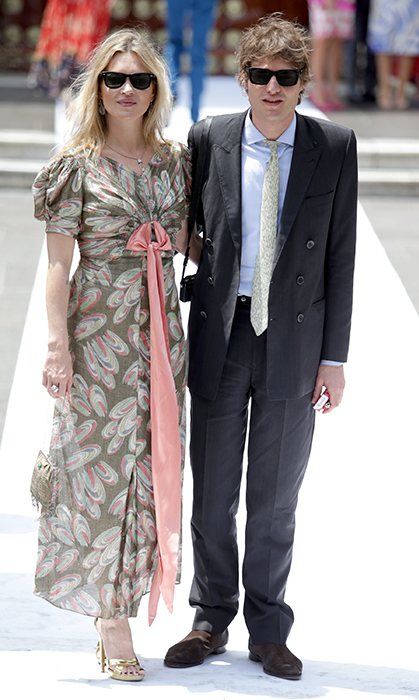 <p>Supermodel Kate Moss and her boyfriend Count Nikolai Von Bismarck made an appearance for the big day in Lima.</p>