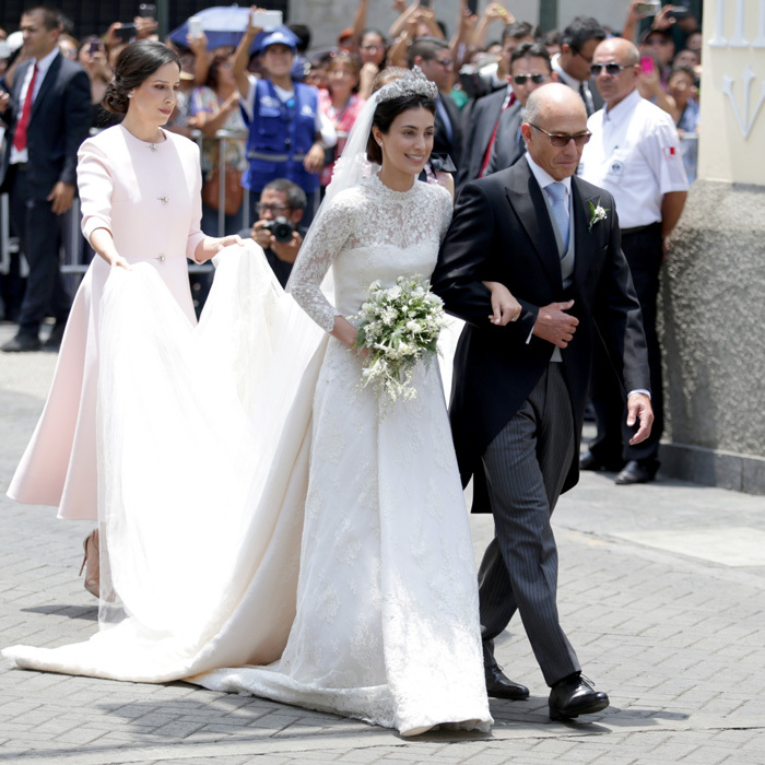 "<p><a href=""/tags/0/alessandra-de-osma""><strong>Alessandra de Osma</strong></a> certainly looked like a Princess on her wedding day. The Peruvian beauty, who married Prince Christian of Hanover in a civil ceremony last November, walked down the aisle in her native Peru on Friday, March 16, wearing a stunning gown by Spanish designer Jorge Vazquez for her religious ceremony held at Lima's St. Peter's Church.</p>