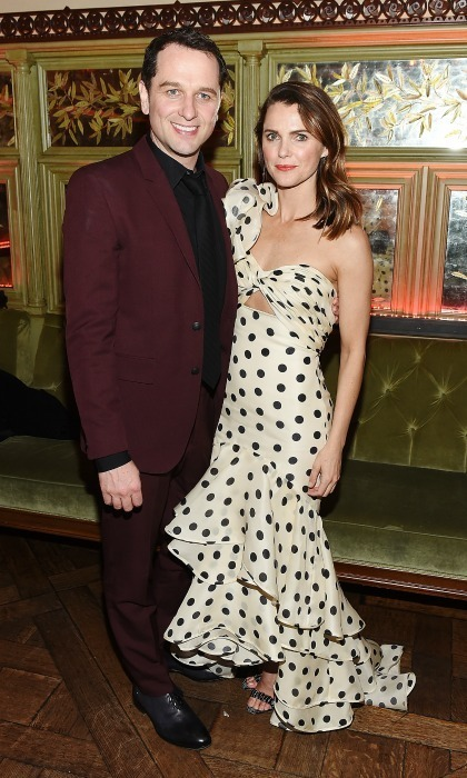 Matthew Rhys and Keri Russell celebrated <em>The Americans's</em> season 6 premiere. The co-stars and real-life couple looked chic as they stepped out for the after-party event at Tavern On The Green on March 16 in New York City. 