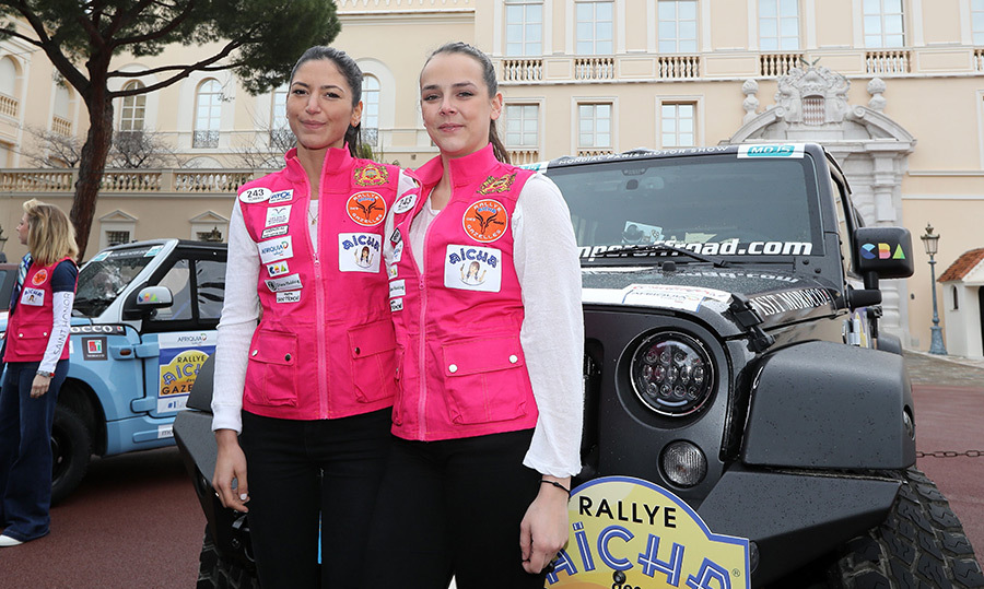 Pauline Ducruet, Princess Stéphanie of Monaco's daughter, and stylist Schanel Bakkouche stopped for a photo at the 'Rallye des Gazelles' on March 17 in Monaco.