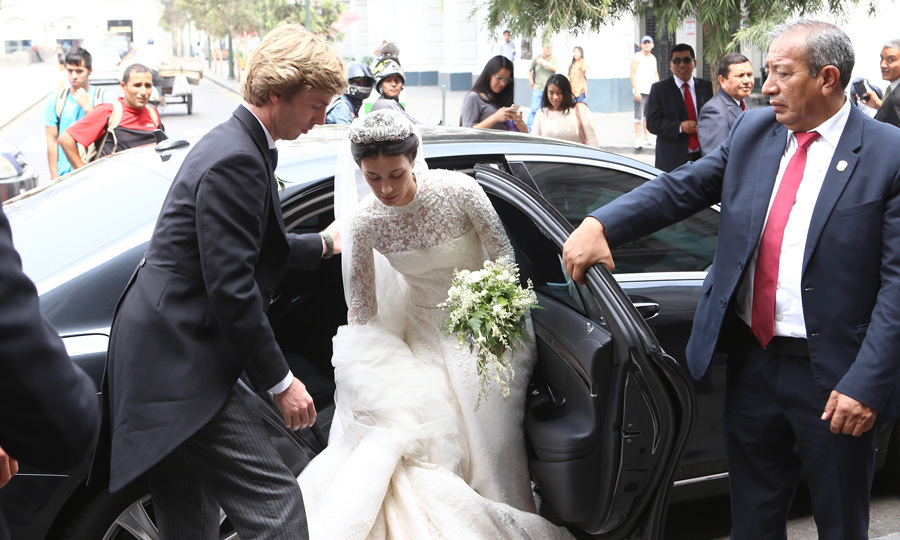 <p>Following their wedding ceremony on Friday, the couple went to the Club Nacional for lunch and cocktails in the evening at the Casa Berckemeyer art gallery.</p>