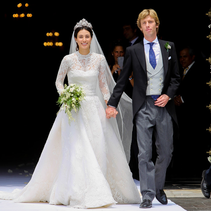 <p>Wedding bells are ringing! Prince Christian of Hanover made his way outside of the hand-in-hand with his bride Alessandra de Osma after holding their religious ceremony, in the bride's native Peru.</p>