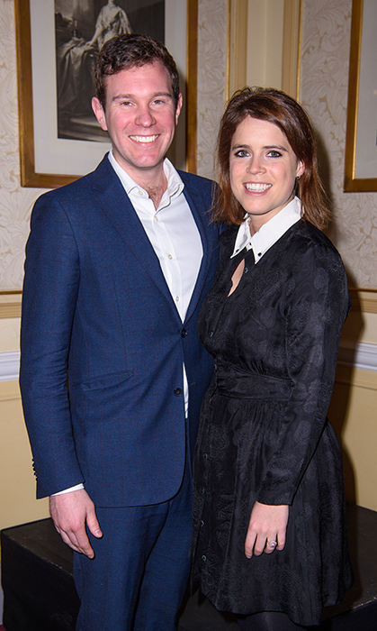 Princess Eugenie posed with her soon-to-be husband Jack Brooksbank while attending the Teenage Cancer Trust Annual Concert Series.