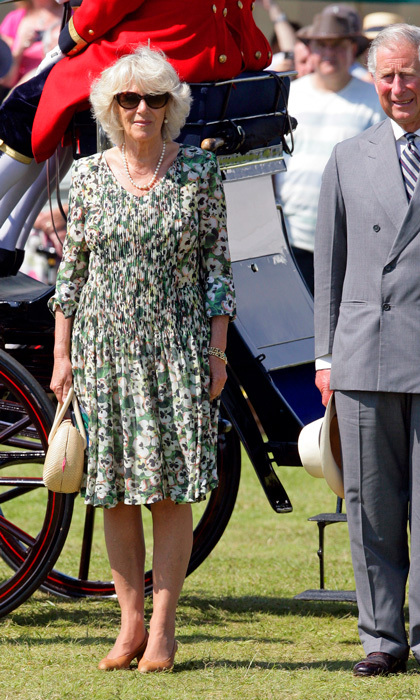 Camilla, Duchess of Cornwall, dressed for the occasion during her appearance at the Sandringham Flower Show with Prince Charles in 2012.</p>