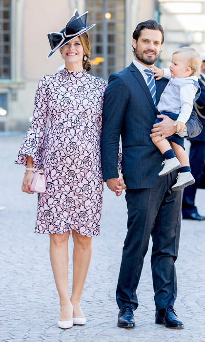 Princess Sofia of Sweden dressed her baby bump in flowers during Crown Princess Victoria's birthday celebrations.