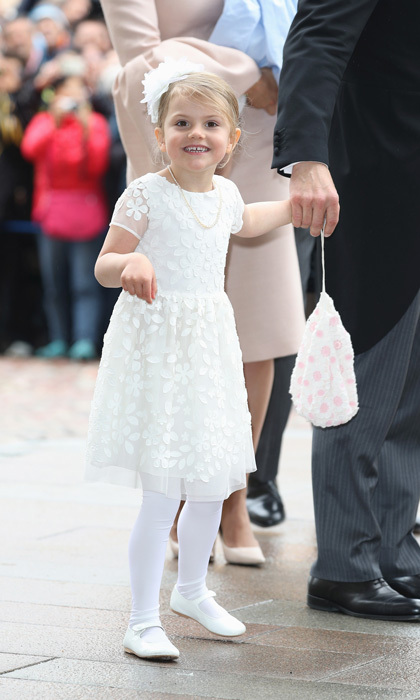 <p><a href=/tags/0/princess-estelle><strong>Princess Estelle</strong></a> proved that even the smallest royals have style too! Although the celebration was in honour of her little brother <a href=/tags/0/prince-oscar><strong>Prince Oscar</strong></a>, Crown Princess Victoria's daughter had all eyes on her in an all-white floral dress.