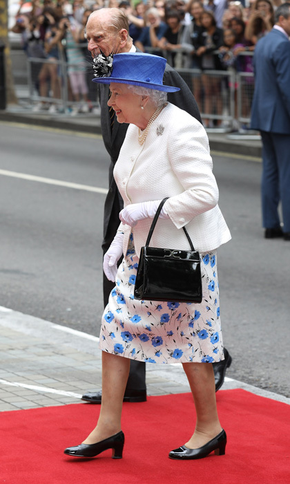 <p><a href=/tags/0/queen-elizabeth-ii><strong>Queen Elizabeth II</strong></a>, who prefers to stick to solid colors, had some fun with her look during a stop at Canada House with <a href=/tags/0/prince-philip><strong>Prince Philip</strong></a> in 2017. 