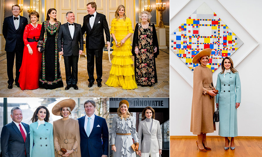 <p>Queen Rania and her husband King Abdullah II embarked on a whirlwind, two-day state visit to the Netherlands to spend some time with their royal friends Queen Maxima and King Alexander-Willem.</p>