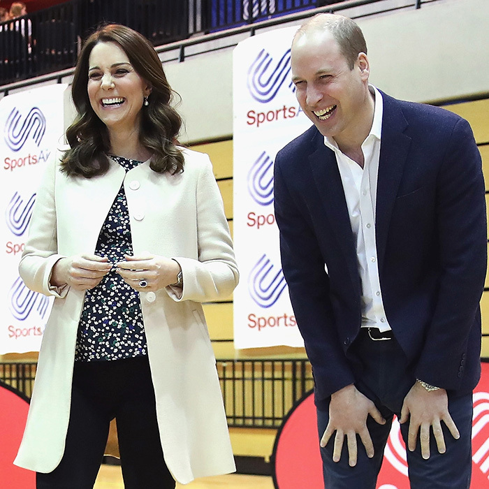 Kate and William shared a hearty laugh while attending the SportsAid event together on March 22.
