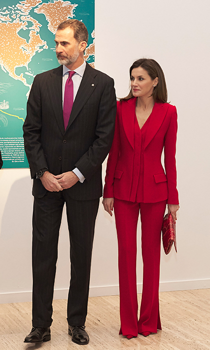 King Felipe VI and Queen Letizia attended a cultural event – The Commemoration of Capitulations of Valladolid at the Miguel Delibes Cultural Center – in Valladolid, Spain on March 22.