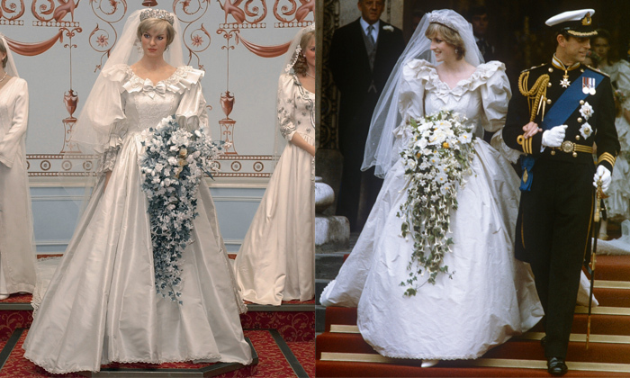 "A staggering billion people tuned in to watch Lady Diana Spencer say ""I do"" to Prince Charles in a fairy tale wedding that will live on in history books, so it's no wonder the royal bride was a shoo-in for Madame Tussauds. The London location did a retrospective on royal brides that included replica gowns made by each of the original designers.