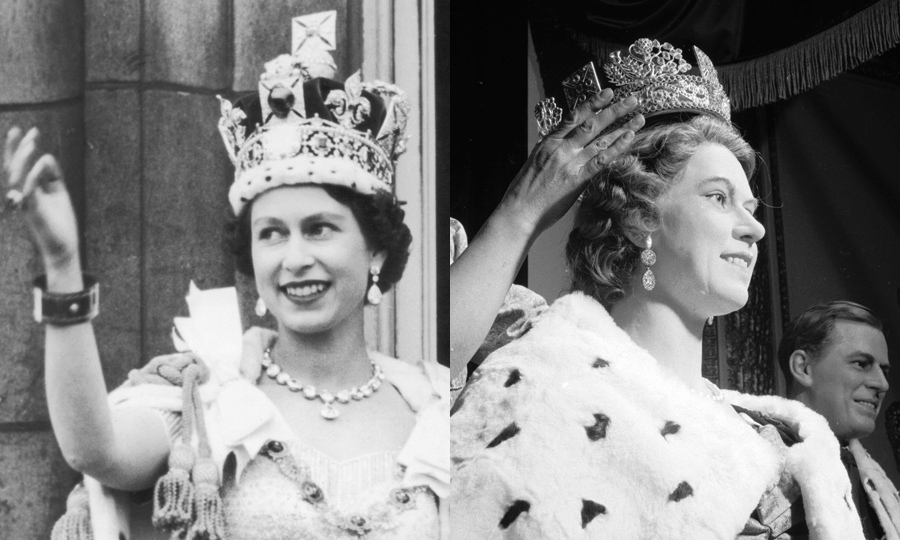 Way back in 1955 at Madame Tussauds London, a replica of the Queen was crowned for all her fans to see. 
