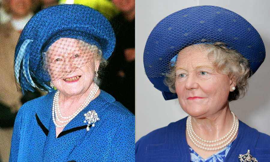 The Queen Mother looked beautiful in blue at London's Madame Tussauds in 2007, five years after her death. Her ensemble called to mind an outing she took to Somerset House just three months shy of her 100th birthday.