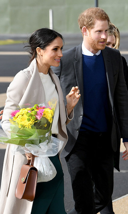 <p>The cross-community gathering at the Eikon Centre, which is built on the site of the old Maze prison, will see teenagers share their hopes and dreams of a peaceful and reconciled future on the island. Meghan received flowers outside the space, which she carried alongside her Charlotte Elizabeth bag - a British brand supported by her future father-in-law Prince Charles's Prince's Trust.</p>