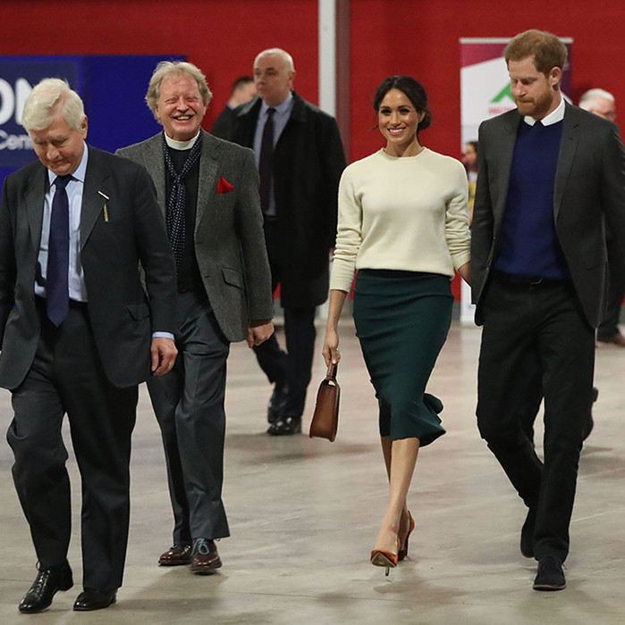 <p>The Reverend Dr David Latimer was seen walking alongside Harry and Meghan during their busy morning in Belfast.</p>