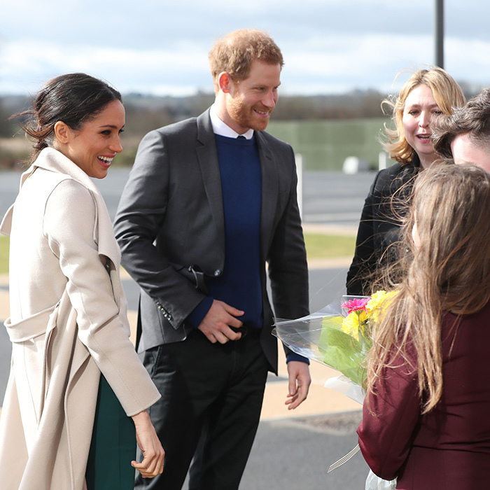 "Meghan is definitely getting her fair share of walkabout practice ahead of officially joining the Royal Family on May 19 when she says ""I do"" to Prince Harry in Windsor.