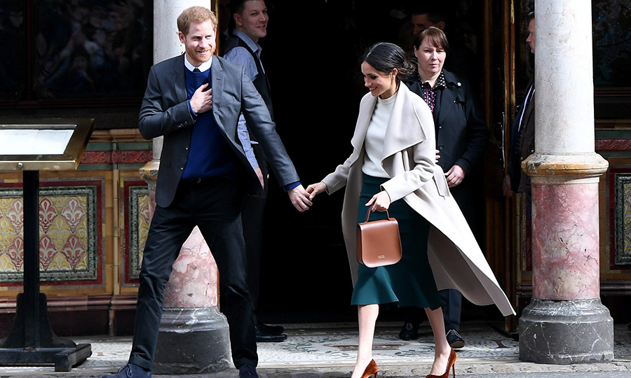 The couple never shies away from a little PDA! While at the Crown Bar, they enjoyed learning about the pub's heritage from National Trust representatives as well as meeting local comedians, musicians and bar staff.