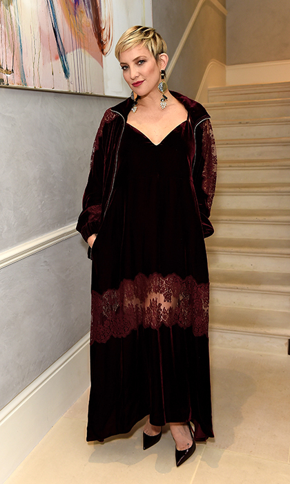 <p>Kate Hudson was gothic chic while attending a celebratory dinner in honour of the Kate Hudson and Fabletics collaboration on March 22.</p>