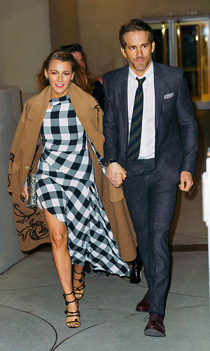 <p>Hollywood favourites Blake Lively and Ryan Reynolds looked stylish while leaving the Guggenheim on March 22.</p>