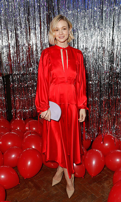 <p>On March 22 in London, Carey Mulligan looked red hot at the Self-Portrait store opening after-party!</p>