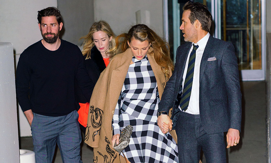 <p>Blake and Ryan were joined by another Hollywood couple John Krazinski and Emily Blunt at the Guggenheim.</p>