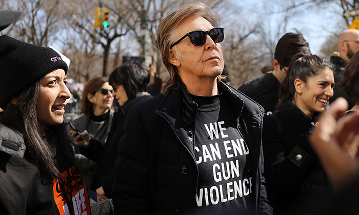 "Paul McCartney told CNN why he was participating in the March for our Lives rally in New York. ""One of my best friends was killed in gun violence,"" said the former Beatles member, referencing the late John Lennon.