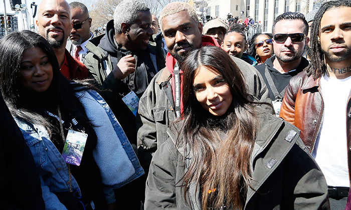 Kim Kardashian and Kanye West brought their daughter North to the march in D.C., where the reality star documented her experience on Instagram stories. 