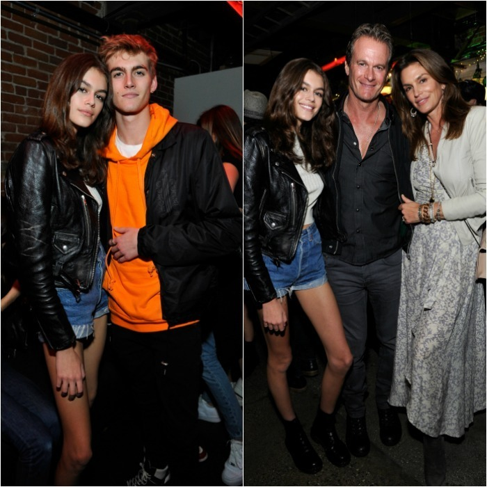 Family night! Star foursome Cindy Crawford, Rande Gerber and their kids Kaia and Presley Gerber were out in full force on March 24 for Spotify's Louder Together launch party at Resident DTLA in L.A. Presley was spotted there with his model girlfriend Charlotte D'Alessio. 