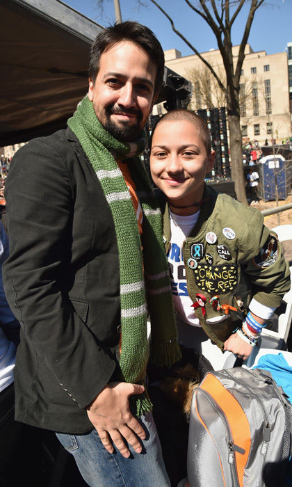 <p>Lin-Manuel Miranda stood with Parkland student, and one of the faces of the march, Emma Gonzalez. During her time on stage, the 18-year-old stayed silent for much of the six minutes and twenty seconds. This was the amount of time it took for 17 lives to be taken on Feb. 14 at her school in Florida. With tears streaming down her face, it was a powerful moment of silence.</p>