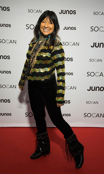 Buffy Ste. Marie at the JUNO Gala