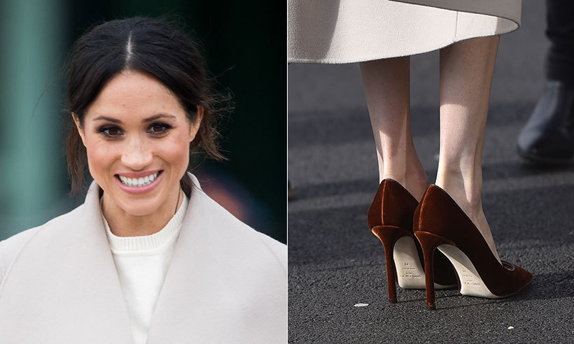 48aa0c698ff Meghan Markle s favourite stilettos are very different from Kate s  signature heels