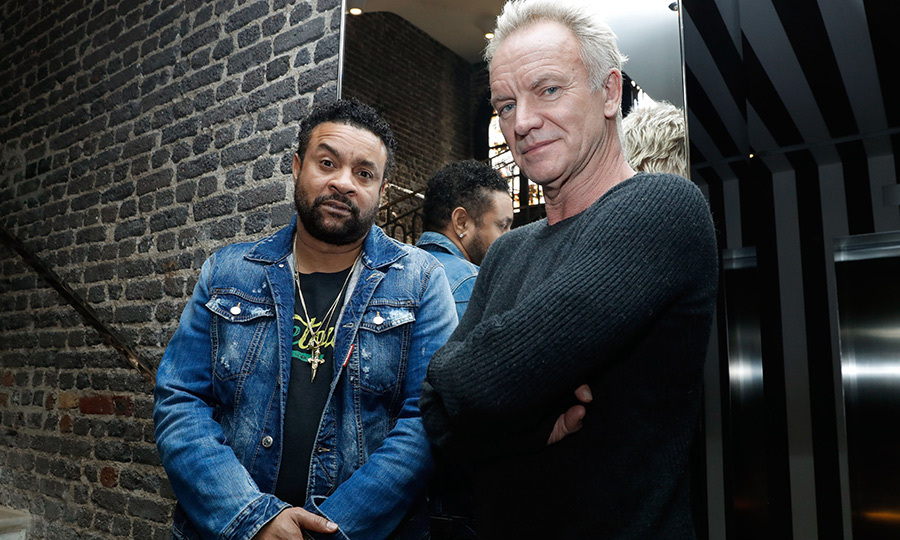 <p>Jamaican musician Shaggy and Sting posed together in Paris on March 26. Shaggy is one of the singers who will perform at the Queen's birthday party in April!</p>